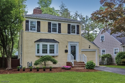 Westfield Town NJ Single Family Home For Sale: $589,000