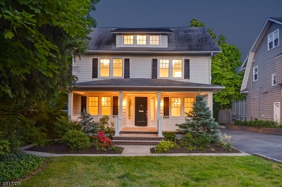 Westfield Town NJ Single Family Home For Sale: $1,150,000