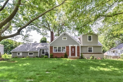 Scotch Plains Twp. Single Family Home For Sale: 1858 Quimby Ln
