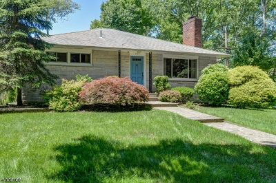 Cranford Twp. Single Family Home For Sale: 1109 Springfield Avenue