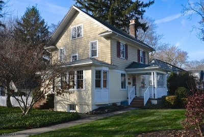 Westfield Town NJ Single Family Home For Sale: $609,999