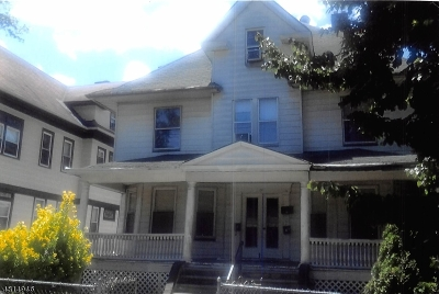Passaic City Multi Family Home For Sale: 133 Van Houten Ave