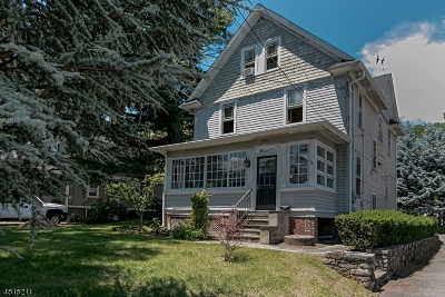 Springfield Single Family Home For Sale: 271 Short Hills Ave