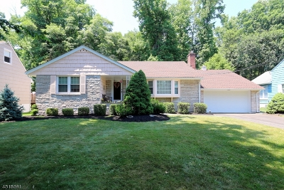 Cranford Twp. Single Family Home For Sale: 31 Brookdale Rd