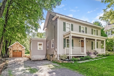 Califon Boro Single Family Home For Sale: 22 Academy Street