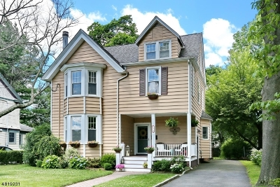 Nutley Twp. NJ Single Family Home For Sale: $539,000