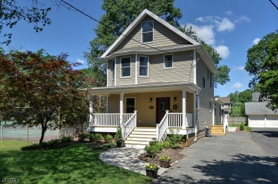 Westfield Town NJ Single Family Home For Sale: $969,000