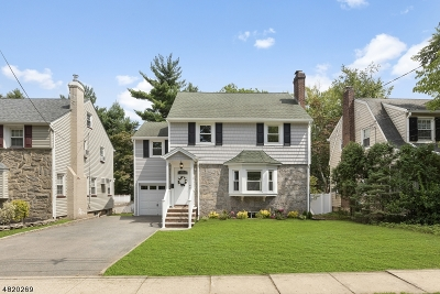 Nutley Twp. NJ Single Family Home Active Under Contract: $499,000