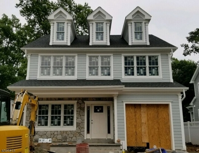 Westfield Town NJ Single Family Home For Sale: $1,050,000