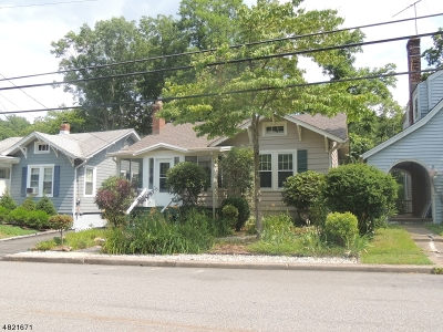 Morristown Town, Morris Twp. Single Family Home For Sale: 144 Western Ave
