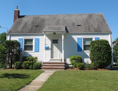 Westfield Town NJ Single Family Home For Sale: $459,000