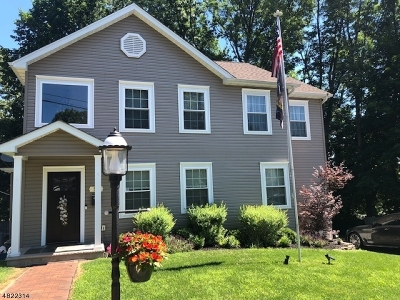 Nutley Twp. NJ Single Family Home For Sale: $595,000