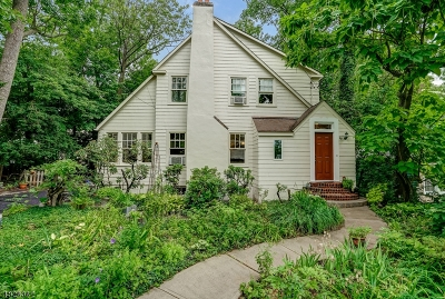 Millburn Twp. Single Family Home For Sale: 29 Norwood Ter