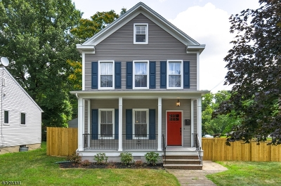 Scotch Plains Twp. Single Family Home For Sale: 1578 Front St