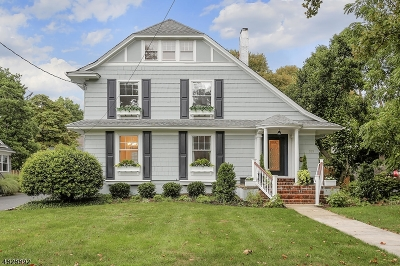 Westfield Town NJ Single Family Home For Sale: $915,000