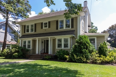 Westfield Town NJ Single Family Home For Sale: $1,160,000