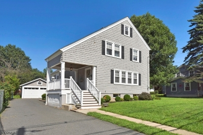 Morristown Town, Morris Twp. Single Family Home For Sale: 22 Mills St