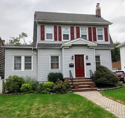 Nutley Twp. NJ Single Family Home For Sale: $409,000