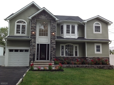 Nutley Twp. NJ Single Family Home For Sale: $649,000