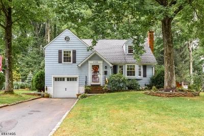Scotch Plains Twp. Single Family Home For Sale: 1733 Ramapo Way