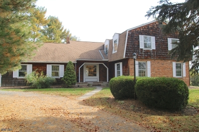 Tewksbury Twp. Single Family Home For Sale: 1016 Califon Cokesbury Rd