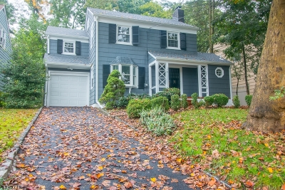 Roseland Boro Single Family Home For Sale: 20 Plymouth Pl
