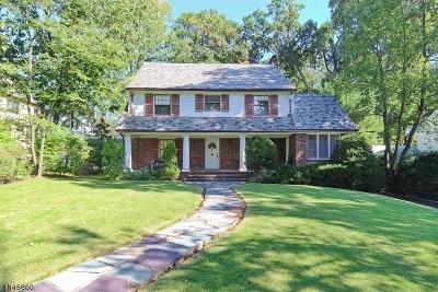 South Orange Village Twp. Single Family Home For Sale: 403 Lenox Ave