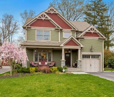Westfield Town NJ Single Family Home For Sale: $1,199,000