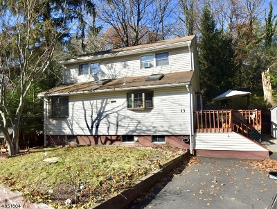 Jefferson Twp. NJ Single Family Home For Sale: $169,900