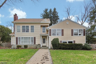 Westfield Town NJ Single Family Home For Sale: $995,000