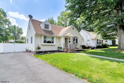 Nutley Twp. NJ Single Family Home For Sale: $369,999