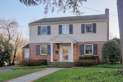 Westfield Town NJ Single Family Home For Sale: $899,000