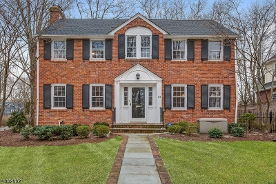 Summit Single Family Home For Sale: 13 Sherman Ave
