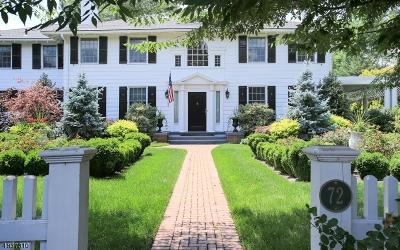 Madison Boro Single Family Home For Sale: 72 Glenwild Rd