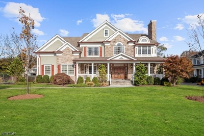 Westfield Town NJ Single Family Home For Sale: $1,670,000