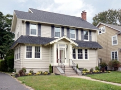 South Orange Village Twp. Single Family Home For Sale: 347 Tichenor Ave