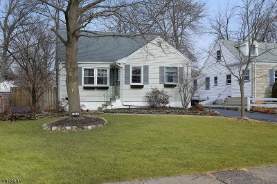 Westfield Town NJ Single Family Home For Sale: $475,000