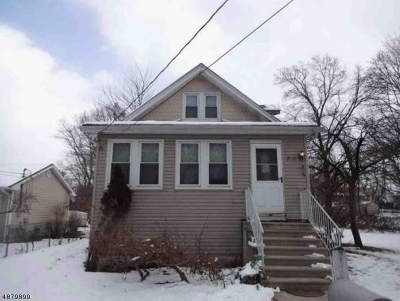 Franklin Twp. NJ Single Family Home For Sale: $121,000
