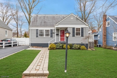 Westfield Town NJ Single Family Home For Sale: $474,000