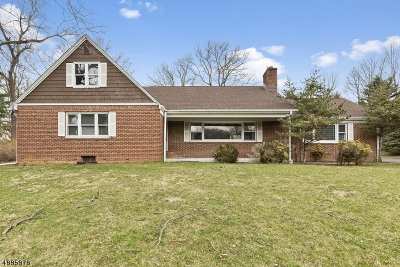 Mountainside Single Family Home For Sale: 448 New Providence Rd