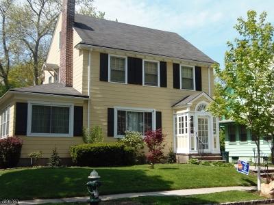 South Orange Village Twp. Single Family Home For Sale: 121 S Kingman Rd