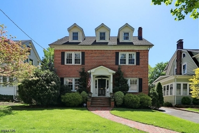 Cranford Twp. Single Family Home For Sale: 117 Retford Ave