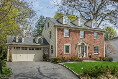 Maplewood Twp. NJ Single Family Home For Sale: $1,175,000