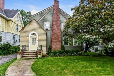 South Orange Village Twp. Single Family Home For Sale: 286 Walton Ave