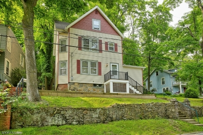 Morristown Town, Morris Twp. Single Family Home For Sale: 64 Chestnut St