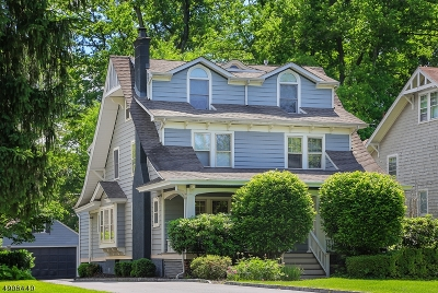 Westfield Town NJ Single Family Home For Sale: $1,095,000