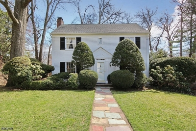 Westfield Town NJ Single Family Home For Sale: $650,000