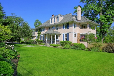 Westfield Town NJ Single Family Home For Sale: $3,750,000