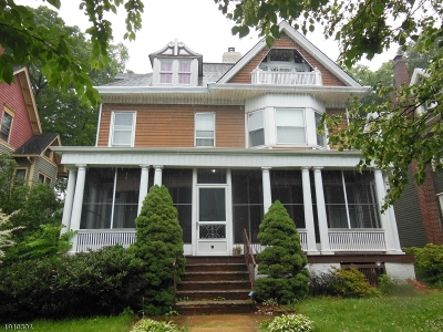 South Orange Village Twp. Single Family Home For Sale: 60 Fairview Ave
