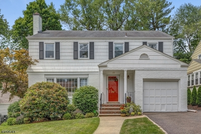 West Orange Twp. Single Family Home For Sale: 122 Forest Hill Rd